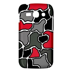 Black, gray and red abstraction Samsung Galaxy Ace 3 S7272 Hardshell Case