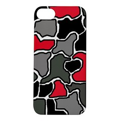 Black, gray and red abstraction Apple iPhone 5S/ SE Hardshell Case