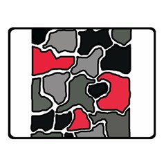 Black, gray and red abstraction Double Sided Fleece Blanket (Small)