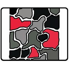 Black, gray and red abstraction Double Sided Fleece Blanket (Medium)