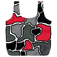 Black, gray and red abstraction Full Print Recycle Bags (L)