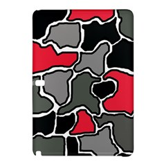 Black, gray and red abstraction Samsung Galaxy Tab Pro 12.2 Hardshell Case