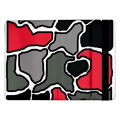 Black, gray and red abstraction Samsung Galaxy Tab Pro 12.2  Flip Case