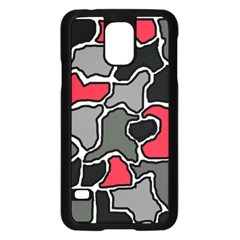 Black, gray and red abstraction Samsung Galaxy S5 Case (Black)