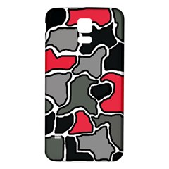 Black, gray and red abstraction Samsung Galaxy S5 Back Case (White)