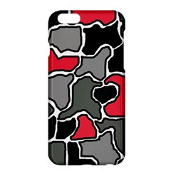 Black, gray and red abstraction Apple iPhone 6 Plus/6S Plus Hardshell Case