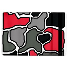 Black, gray and red abstraction iPad Air 2 Flip