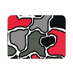 Black, gray and red abstraction Double Sided Flano Blanket (Mini)