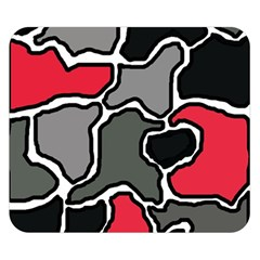 Black, gray and red abstraction Double Sided Flano Blanket (Small)