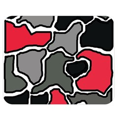 Black, Gray And Red Abstraction Double Sided Flano Blanket (medium)