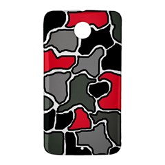 Black, gray and red abstraction Nexus 6 Case (White)