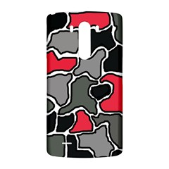 Black, gray and red abstraction LG G3 Back Case