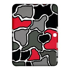 Black, gray and red abstraction Samsung Galaxy Tab 4 (10.1 ) Hardshell Case