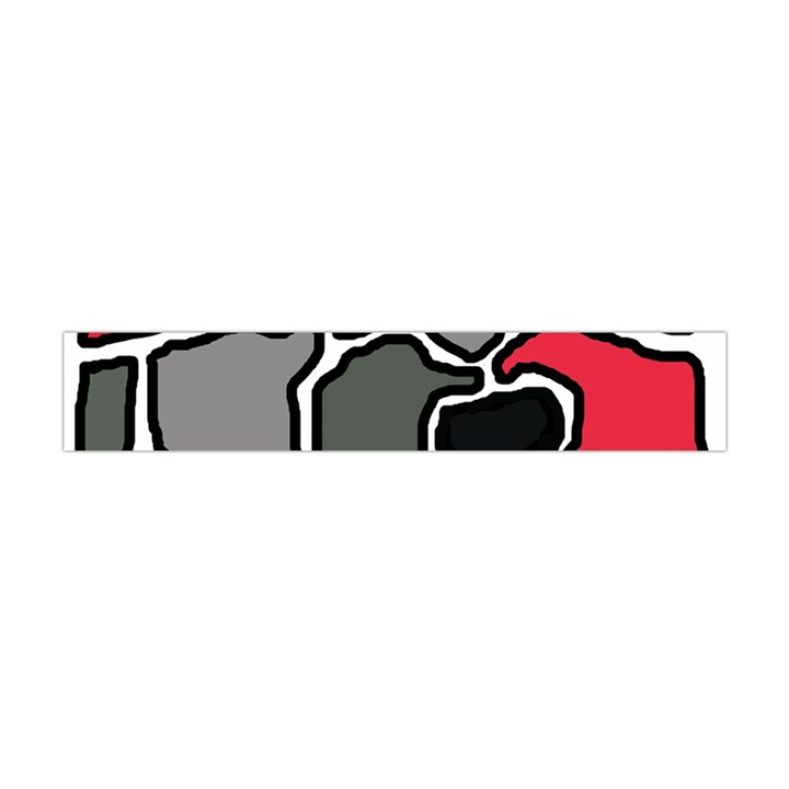 Black, gray and red abstraction Flano Scarf (Mini)