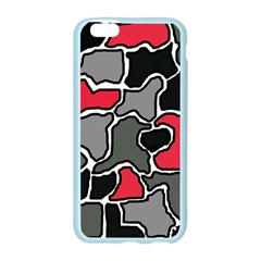 Black, gray and red abstraction Apple Seamless iPhone 6/6S Case (Color)