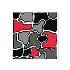 Black, gray and red abstraction Satin Bandana Scarf