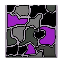 Purple and gray abstraction Tile Coasters