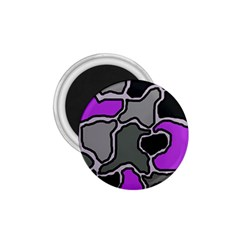 Purple and gray abstraction 1.75  Magnets