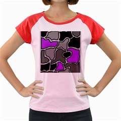 Purple and gray abstraction Women s Cap Sleeve T-Shirt