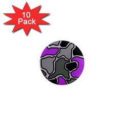 Purple and gray abstraction 1  Mini Magnet (10 pack)