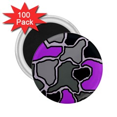 Purple and gray abstraction 2.25  Magnets (100 pack)