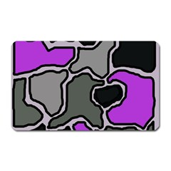 Purple and gray abstraction Magnet (Rectangular)