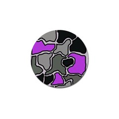 Purple and gray abstraction Golf Ball Marker