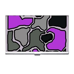 Purple and gray abstraction Business Card Holders