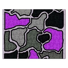 Purple and gray abstraction Rectangular Jigsaw Puzzl