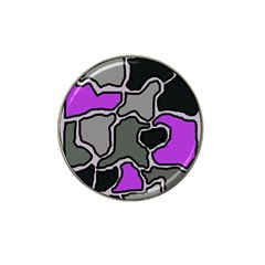 Purple and gray abstraction Hat Clip Ball Marker (4 pack)
