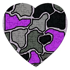 Purple and gray abstraction Jigsaw Puzzle (Heart)