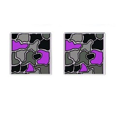 Purple and gray abstraction Cufflinks (Square)