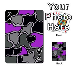 Purple and gray abstraction Playing Cards 54 Designs