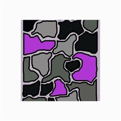 Purple and gray abstraction Collage Prints