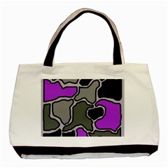 Purple and gray abstraction Basic Tote Bag