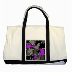 Purple and gray abstraction Two Tone Tote Bag