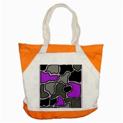 Purple and gray abstraction Accent Tote Bag
