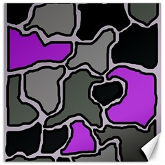 Purple and gray abstraction Canvas 16  x 16