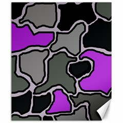 Purple and gray abstraction Canvas 20  x 24