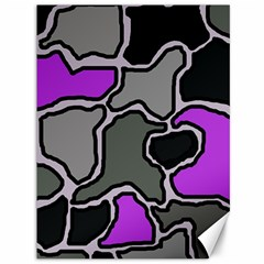 Purple and gray abstraction Canvas 36  x 48
