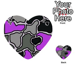 Purple and gray abstraction Playing Cards 54 (Heart)