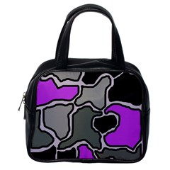 Purple and gray abstraction Classic Handbags (One Side)