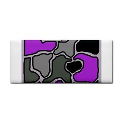 Purple and gray abstraction Hand Towel