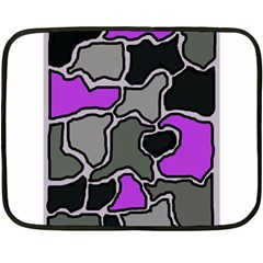 Purple and gray abstraction Double Sided Fleece Blanket (Mini)