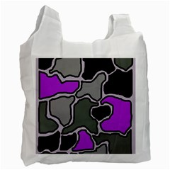 Purple and gray abstraction Recycle Bag (One Side)