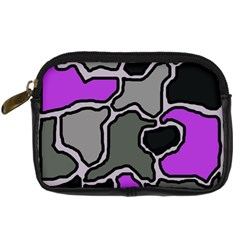Purple and gray abstraction Digital Camera Cases
