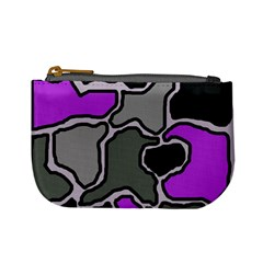 Purple and gray abstraction Mini Coin Purses