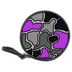 Purple and gray abstraction Classic 20-CD Wallets