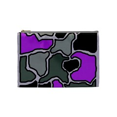 Purple and gray abstraction Cosmetic Bag (Medium)
