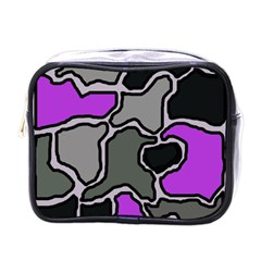 Purple and gray abstraction Mini Toiletries Bags